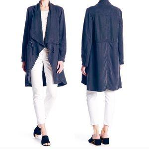 Max Jeans Long Drape Front Waterfall Jacket Tencel